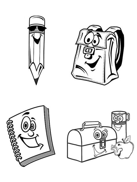 free coloring pages school supplies free printable school supplies coloring pages coloring