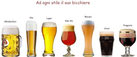tipi di bicchieri ad ognuno il suo gusto gli stili della birra fresco e