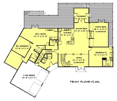 house plans with inlaw apartment in apartment floor plan planos ii