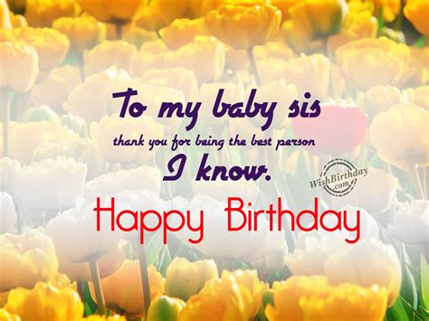 Wishing My Baby Happy Birthday Birthday Wishes For Sister Birthday Images Pictures