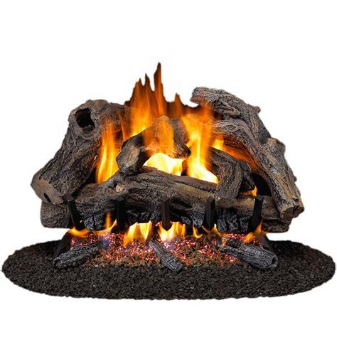 Gas Logs For Fireplace Lowes by Shop Cedar Ridge Hearth 24 In W 18 In W 45 000 Btu Dual