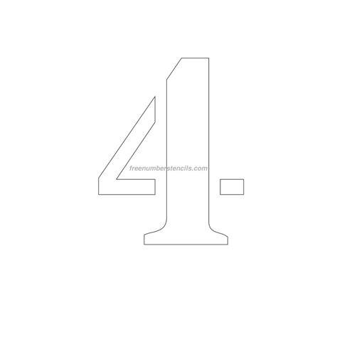 printable number stencils 4 inch free 11 inch 4 number stencil freenumberstencils com