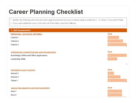 career template planning excel templates planning templates