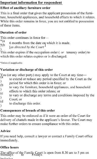 section 19 of domestic violence act family courts rules 2002 sr 2002 261 as at 03 august