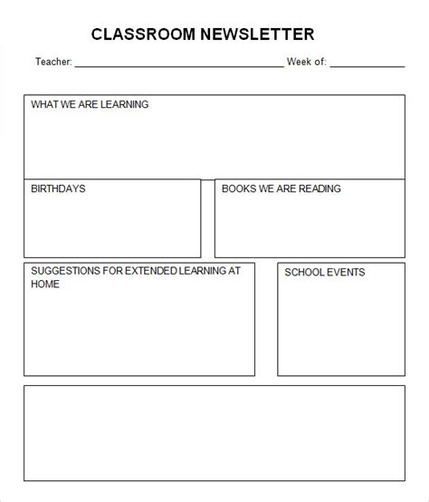 free classroom newsletter templates classroom newsletter template 7 free for pdf word