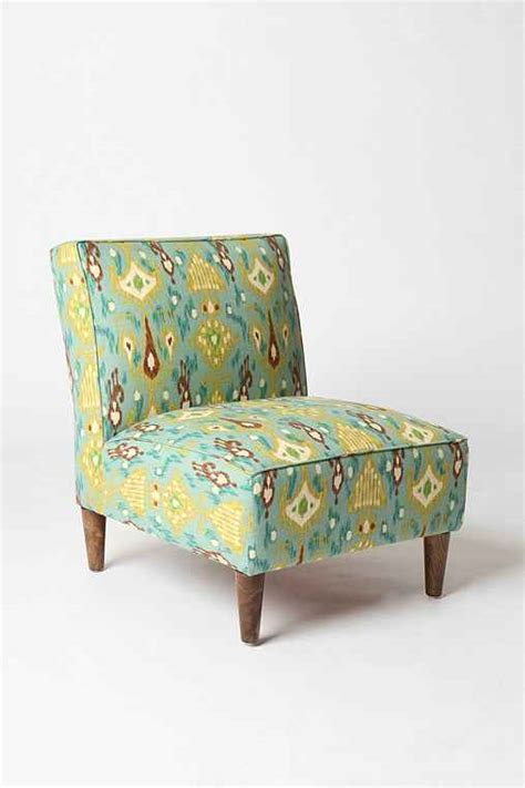 ikat slipper chair slipper chair peacock ikat outfitters