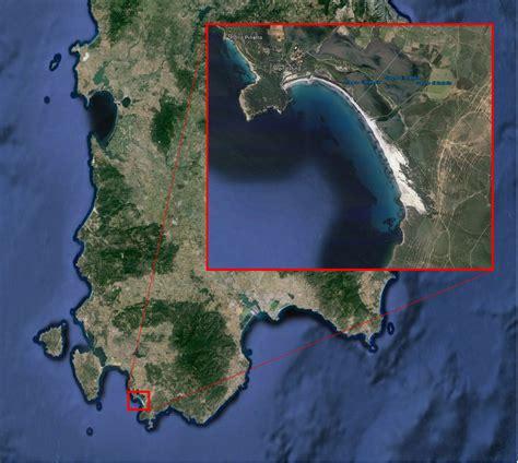 porto pino mappa soss dunes coastal and marine geomorphology