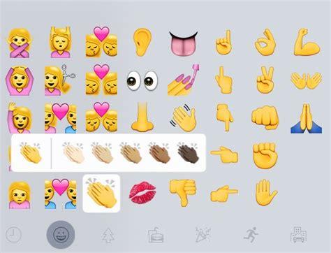 imagenes de manitas ok los emojis nuevos de ios 8 3 m 225 s colores de piel tipos