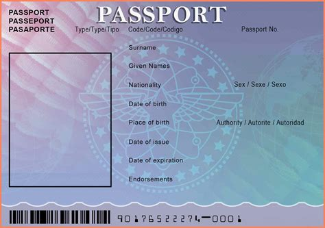 novelty passport template passport template us passport photo template rmtwcarg