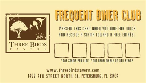 frequent diner card template screen 2013 06 13 at 3 11 50 pm three birds tavern