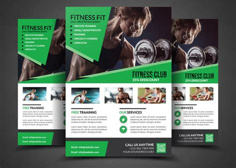 Fitness Flyer Gym Flyer Templates Flyer Templates On Creative Market Fitness Ebook Template