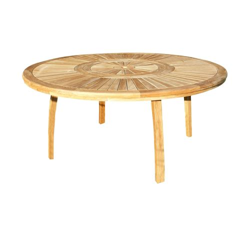 Table Ronde De Jardin 7631 by Table De Jardin Ronde Naturel 8 Personnes Leroy Merlin
