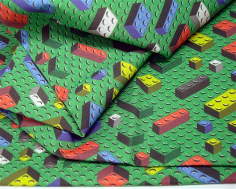 Lego Quilt Fabric bricks fabric yard lego inspired quilting cotton green