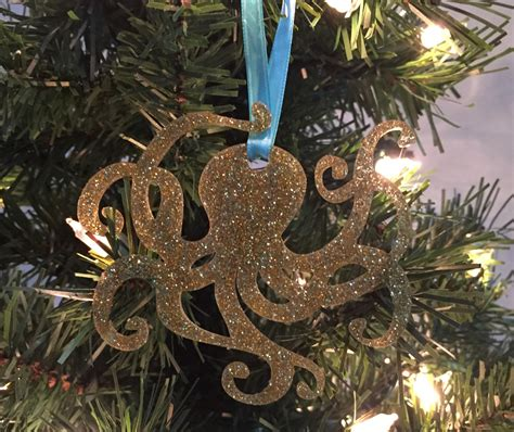 octopus christmas ornament coastal christmas ornament