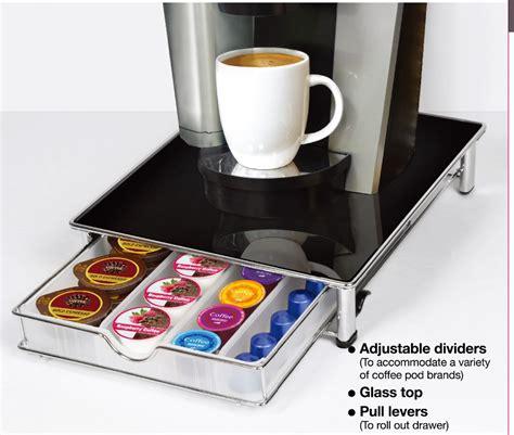 best k cup storage drawer tempered glass top k cup storage drawer coffee pod holder