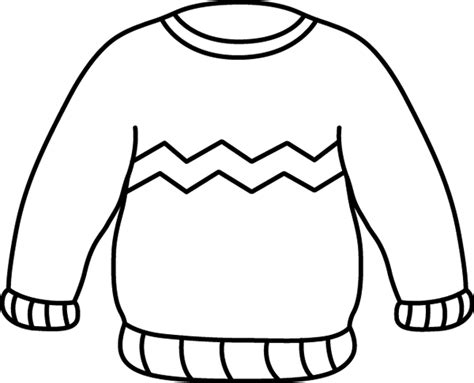 ugly christmas sweater coloring pages to print for free