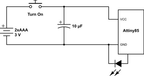 decoupling capacitor attiny batteries where to decouple battery in circuit with power switch electrical engineering