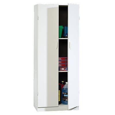 sauder large storage cabinet soft white finish beginnings storage cabinet finish soft white walmart