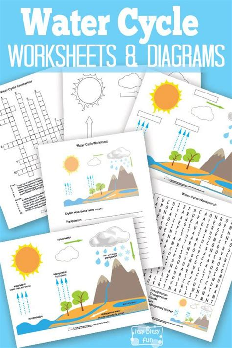 montessori worksheets for toddlers free water cycle free printable water cycle worksheet lesson plans