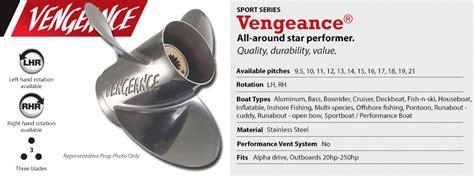 vengeance boat props vengeance boat propeller warehouse