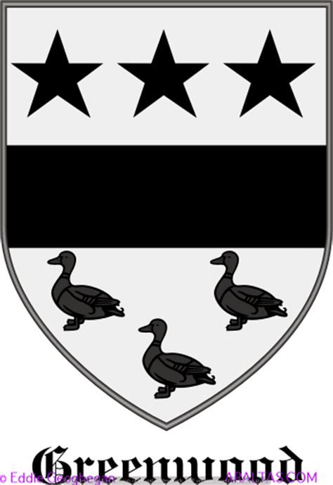 Greenwood [Mass. and Yorkshire] coat of arms, Greenwood
