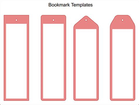 template for a bookmark bookmark template 13 in pdf psd word