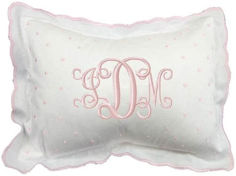 Pillows In Crib by Monogrammed Baby Pillow Crib Nursery Pink Blue White