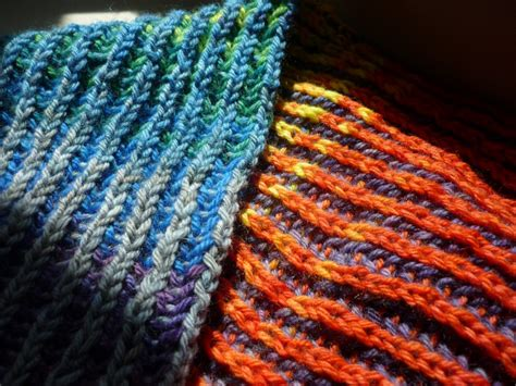 how to brioche knit knitting with gradient yarns wandering wool