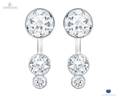 Earrings Dots Swarovski Silver Rhodium 5201104 swarovski jewelry slake dot pierced earring jackets rhodium plated