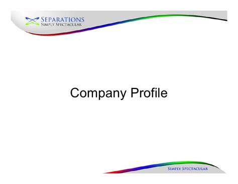 new company profile august 2010