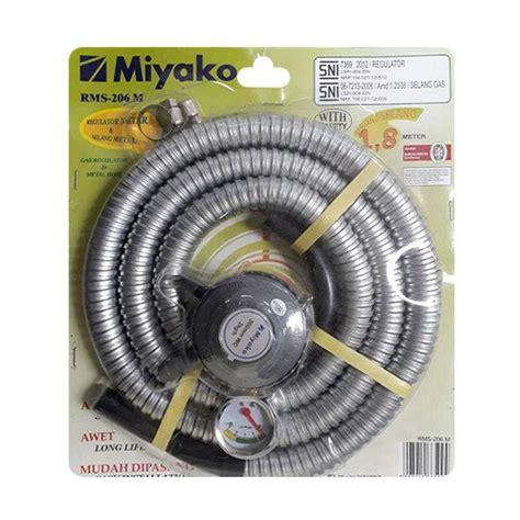 Regulator Meter Dan Selang Metal Regulator Miyako Gas Regulator jual miyako rms 206m regulator selang gas harga kualitas terjamin blibli
