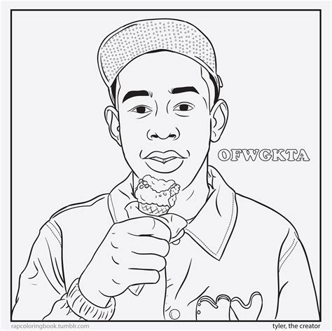 coloring page creator free coloring pages tyler the creator colouring pages