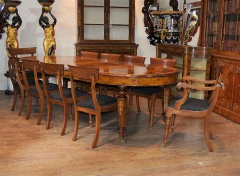 victorian walnut chair dining set suite