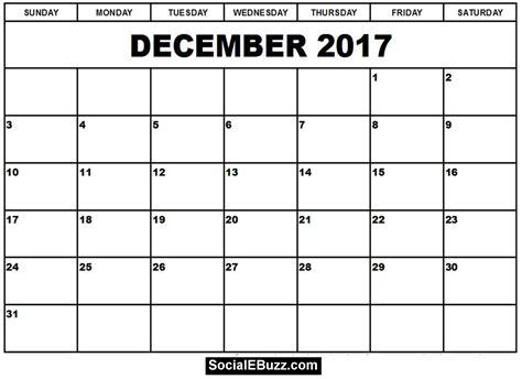 Google Calendar Template 2017