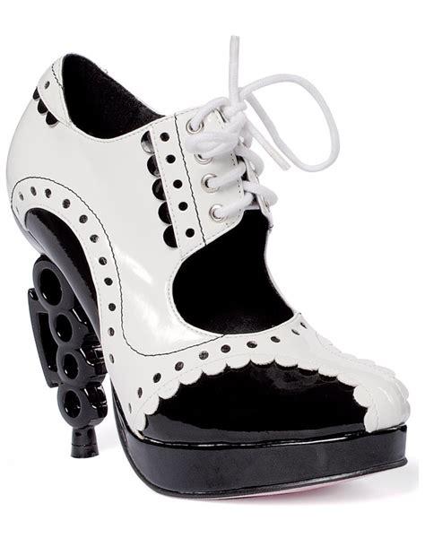 gangster high heels mafia brass knuckle heels high lace up oxford gangster