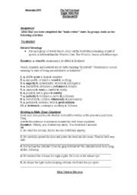 Tell Tale Worksheet by Worksheets The Tell Tale