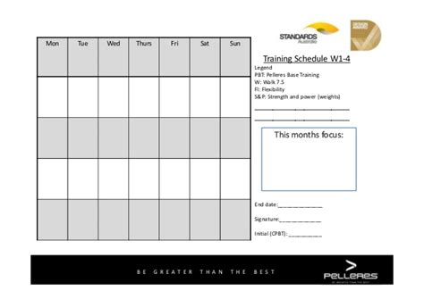 4 week schedule template pelleres base 4 week template