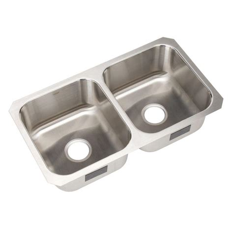sterling stainless steel kitchen sinks sterling mcallister undermount stainless steel 15 75 in