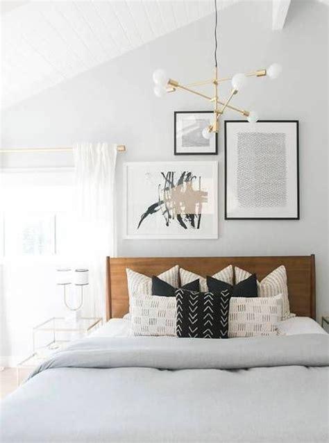 modern bedroom light fixtures modern guest room decor with brass light fixture and