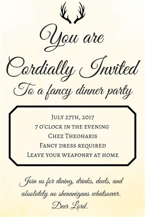 invited  dinner newpapersco