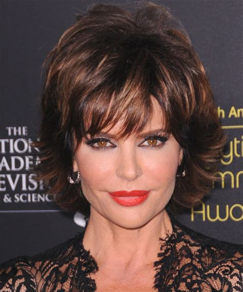 i would like to see pictures of medium auburn hair color with caramel highlights lisa rinna hairstyles in 2018