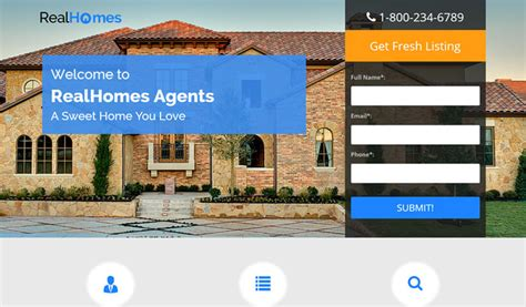 Dream Home Best Real Estate Landing Page Template By Olanding Olanding Best Real Estate Landing Page Templates