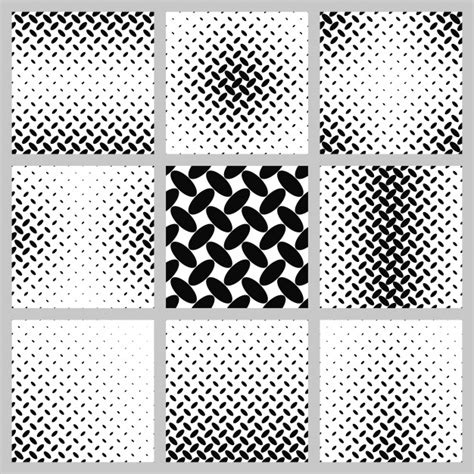 octagon pattern ai black and white ellipse pattern background set vector