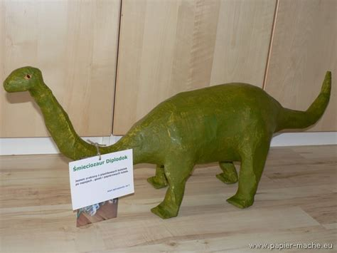 How To Make A Paper Mache Dinosaur Sculpture - dinosaur of papier mache