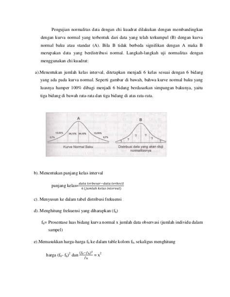 cara menghitung uji normalitas chi kuadrat makalah uji normalitas