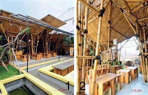 Payung Kebalik Unik bercengkerama di antara bambu