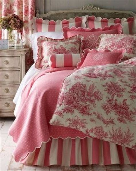 Pink Toile Bedding by Pink Toile Bedroom Accessories Home Decor