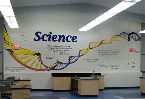 How To Paint A Wall Mural science lab dna mural school mural sugarmanart