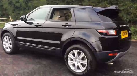 range rover evoque back land rover range rover evoque td4 se tech black 2015