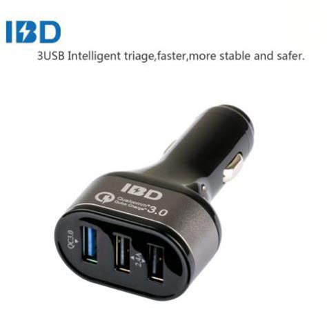 Charger Mobil 3 Usb ibd charger mobil qualcomm quickcharge 3 0 3 port usb